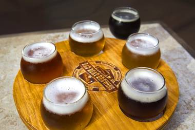 Complement your suds with a round of shuffleboard or Cards Against Humanity at Henderson brewery Bad Beat Brewing.