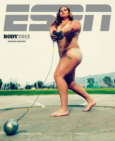 Former UNLV athlete and Olympic hammer thrower Amanda Bingson graced one of the covers of ESPN's Body Issue this year.