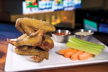 Sporting Life: Legit grub with the big game overhead.