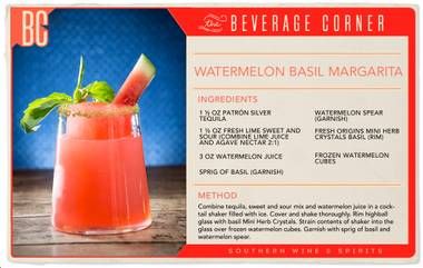 Watermelon and basil might not be the most likely combination, but it's a winner regardless.