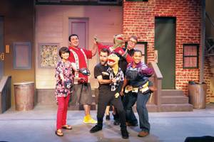 Las Vegas Little Theatre's cast of <em>Avenue Q</em>.