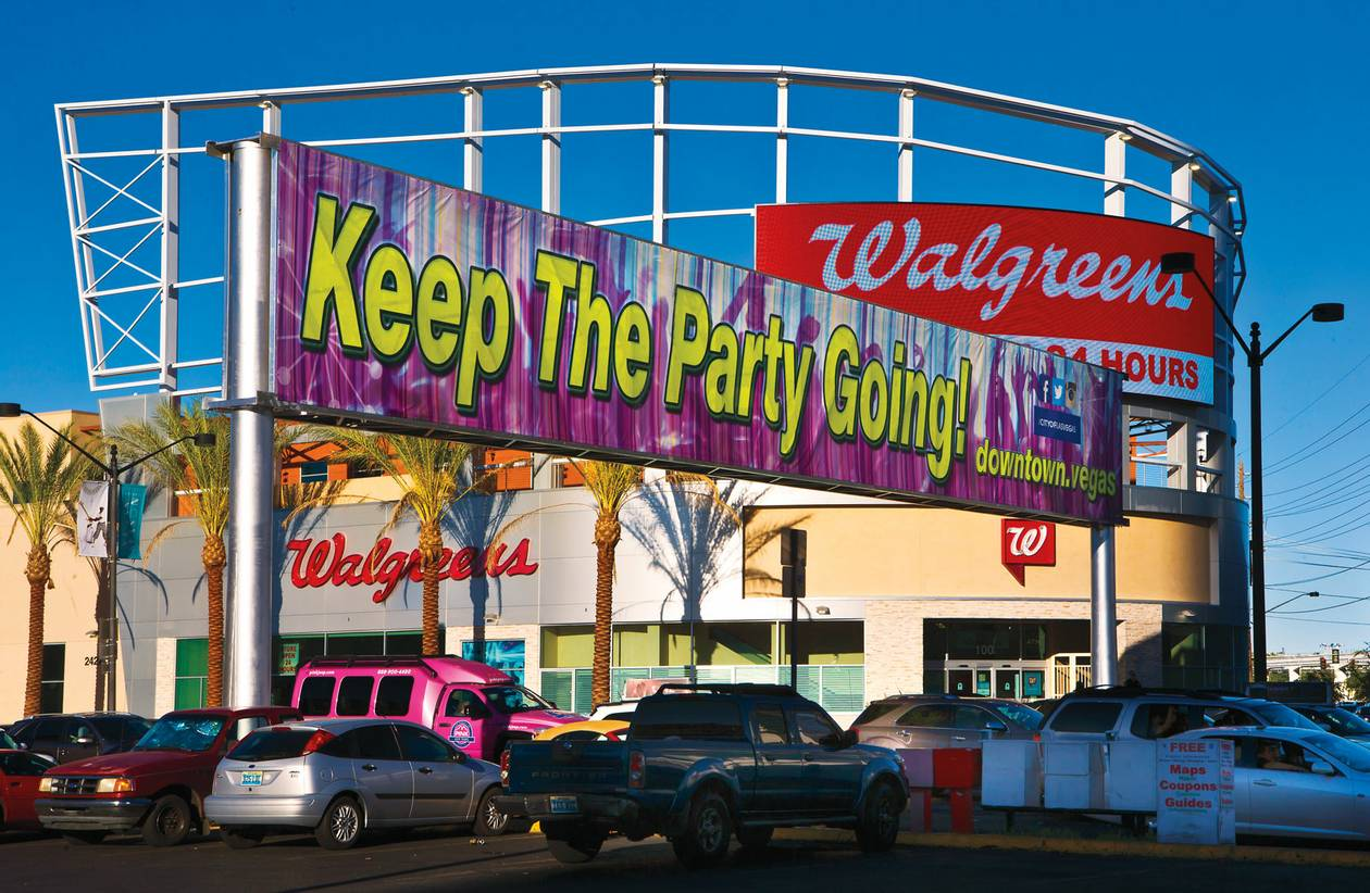 """Keep The Party Going!"" it screams at you, as if Vegas needs help in that department"