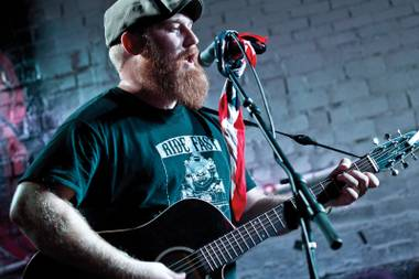 Acoustic anthems: Brock Frabbiele will help Punks in Vegas blow out candles Saturday night.