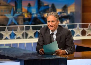 Jon Stewart hosts his last episode of The Daily Show on August 6.