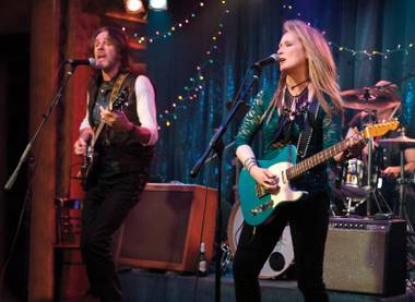 Stage presence: Streep and Rick Springfield rock out unremarkably in Ricki and the Flash.