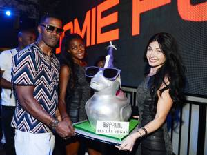 Jamie Foxx at SLS Las Vegas' First-Anniversary Party