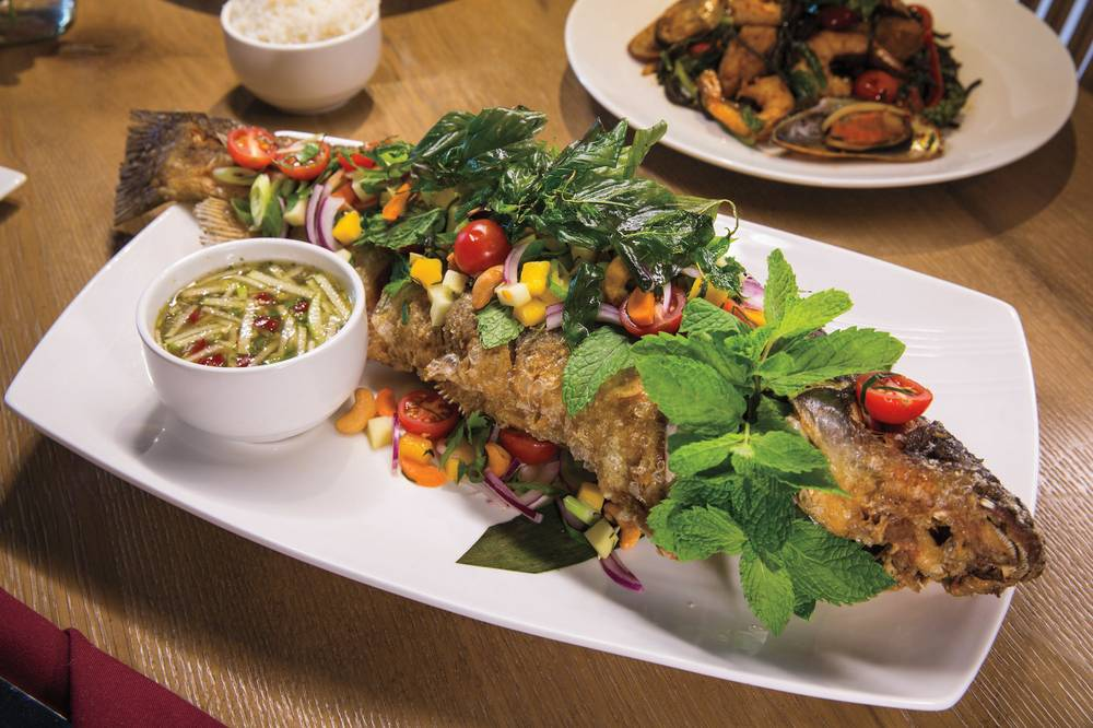 Commercial center adds the fresh intriguing arawan thai for Arawan thai cuisine menu