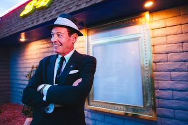 "CJ ""The Voice"" Sinestro has played the Greek Isles and the Plaza, and Saturday he's back onstage for a joint gig with The Rat Pack is Back tribute at the Tuscany Resort."