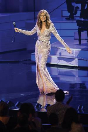 Icon status: Celine Dion has earned her place as a legend of the stage.