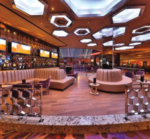 The lounge area at Hard Rock Hotel's new Center Bar.