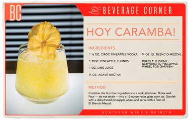 Hoy Caramba! is much more complex and flavorful than one might expect from a fruity, tropical-looking drink.