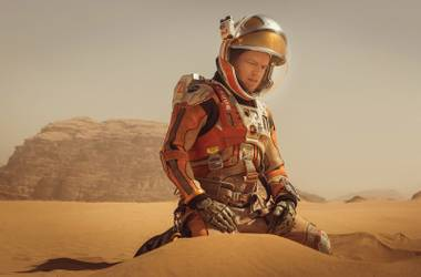 Space man: Damon contemplates the enormity of the universe in The Martian.