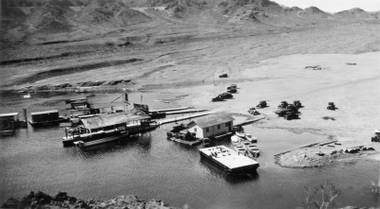 A 1936 image of Lake Mead's Boulder City Boat Landing, one of the photographs featured in the national recreation area's new Virtual Museum.