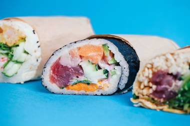 Sushi or burritos? That what's-for-dinner argument has raged for centuries, and now there's an easy answer.