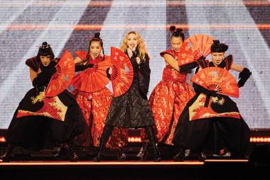 Madonna, performing Saturday night at MGM Grand Garden Arena.