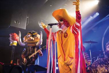 Where else could a bunch of dudes dress up as McDonald's characters and sing Black Sabbath covers about hamburgers and make money doing it?