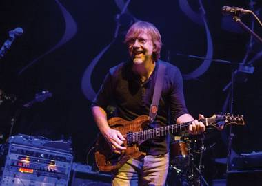 Trey Anastasio enjoyed himself at Brooklyn Bowl during Halloween weekend.