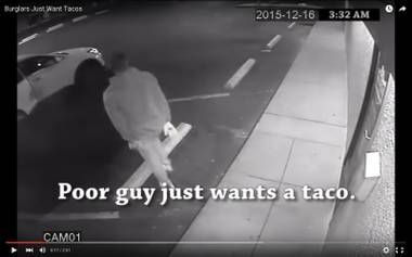 The video depicts the robbers as hunger-crazed patrons seeking out Mexican food.