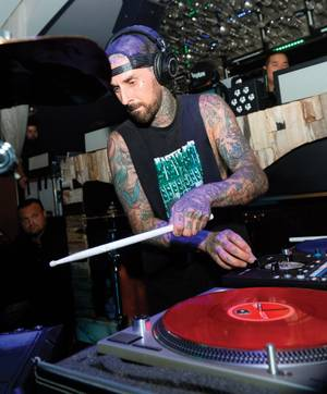 Travis Barker plays another installment of his Give the Drummer Some residency at Hyde January 2.