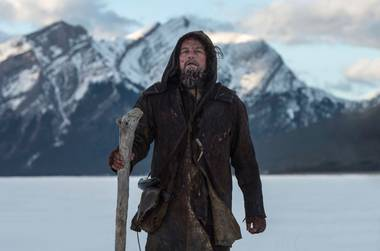 While DiCaprio doesn't really get the chance to give a great performance, he does manage to convey the character's intense will to live.