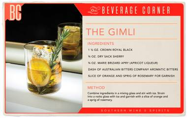 The Gimli is made for the true cocktail aficionado, both active and aspiring.