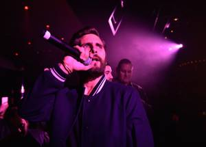 Scott Disick & Post Malone at 1 OAK, January 15