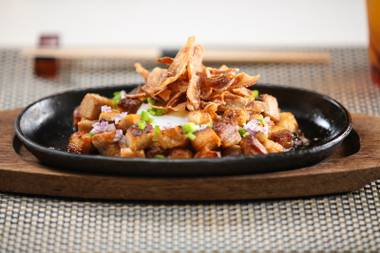 Behold, the sizzling pork sisig at Andrea's.