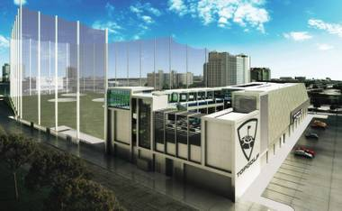 Set to open in May, Vegas' Topgolf will be 105,000 square feet and four levels of swinging fun.
