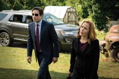 Paranormal partners: David Duchovny's Mulder and Gillian Anderson's Scully in the revival of The X-Files.