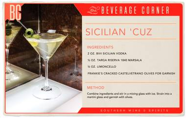 Stir up this cocktail and get ready for an authentic taste of Southern Italy.