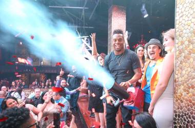 Forget Disneyland. It's all about celebrating in the club on the Las Vegas Strip.