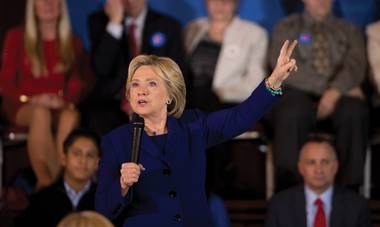 As the political world zeroes in on Nevada's Democratic caucus, Hillary Clinton stands out.