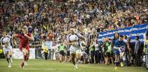 The action on the pitch at USA Sevens is fast and fierce, and the crowd matches it for energy.