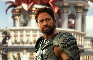 Gerard Butler in Gods of Egypt.