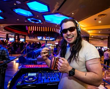 "The ""party god"" returns for another DJ set at the casino's central attraction."