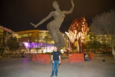 As the center of the Strip's newest outdoor promenade, the 40-foot-tall, 7,500-pound sculpture celebrates feminine empowerment and equality