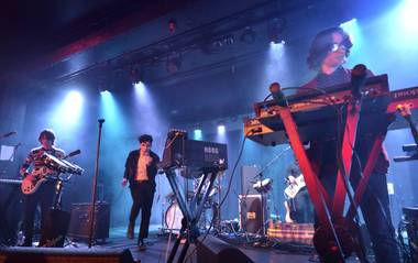 Neon Indian, performing on night two of Neon Reverb at Fremont Country Club.