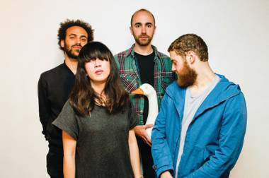 Bloom (second from right) with Yuck.