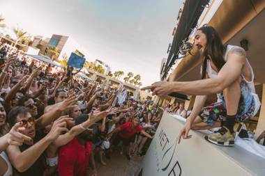 Nobody does a pool party like Aoki.