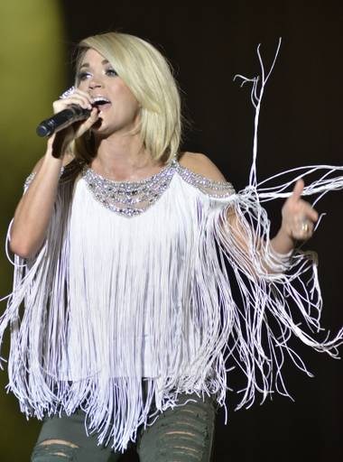 Carrie Underwood performs at ACM's Party for a Cause.