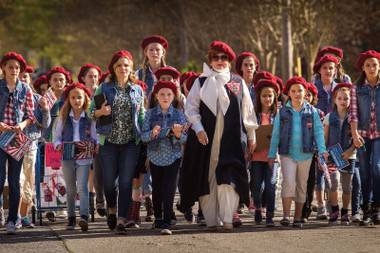 Melissa McCarthy leads the girls as The Boss.
