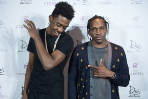 Pusha T and Desiigner at Drai's, April 3
