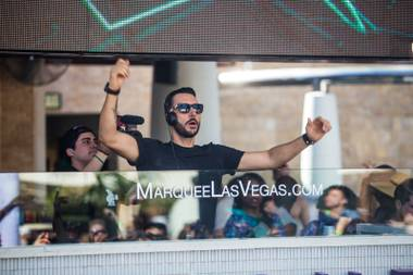 Cedric Gervais at Marquee Dayclub on April 2.