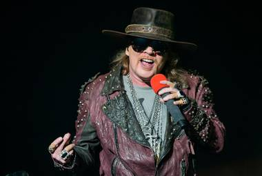 Axl Rose at the Joint in 2014. GNR didn't approve official photography this time—no huge surprise!