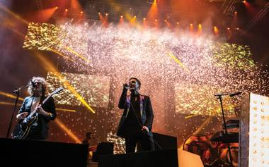 The Killers play T-Mobile Arena's opening night.