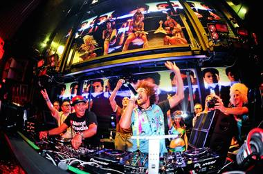 Redfoo, center, returns to Marquee April 18.