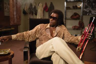 The man with the horn: Don Cheadle as Miles Davis in Miles Ahead.