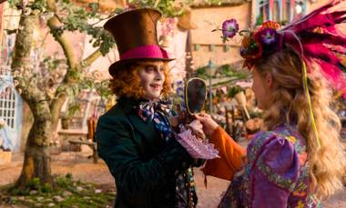 The film has many of the same good things going for it as its predecessor, Tim Burton's Alice in Wonderland (2010), but also several more bad things.