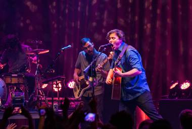 Brian Sella's vocals were the MVP on Saturday night at The Front Bottoms' Brooklyn Bowl show.