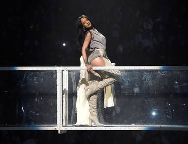 The pop star offered a sultry, dynamic combination of material at Mandalay Bay Events Center.